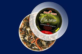Салат из морской капусты (рыба, растительное масло)